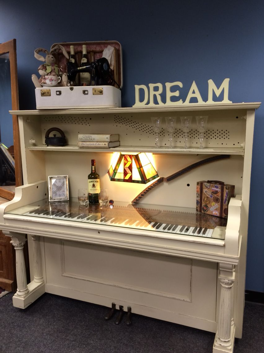 UpCycled Upright Piano now given the new life of a one of ...