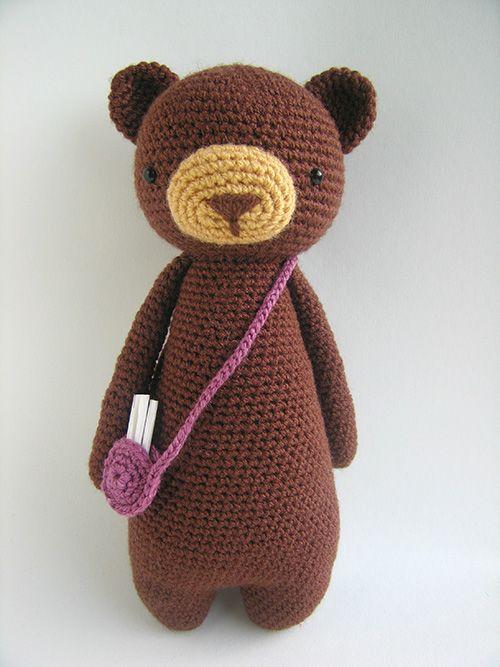 Tall bear with bag amigurumi pattern by Little Bear ...