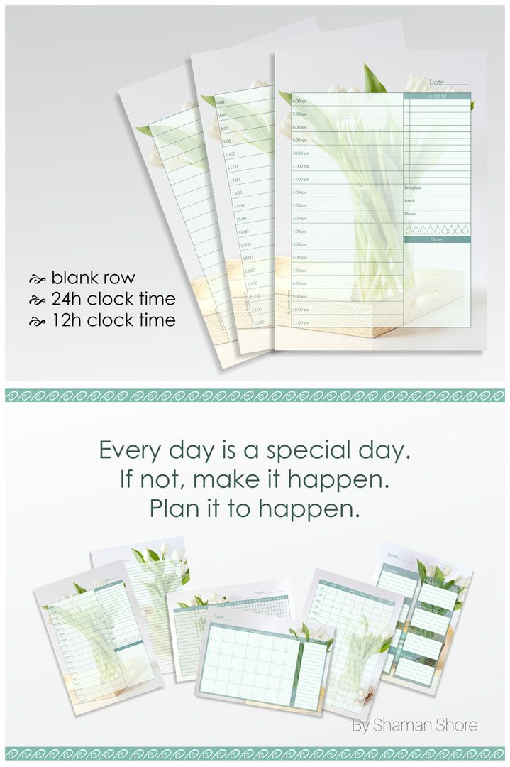 A Daily Planner List Hourly Day Planner Pages Daily Planner Pdf