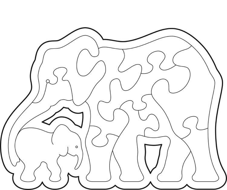 60 Plantillas Scroll Saw Para Puzzles De Animales Descarga Gratuita Animales Cuadrosdedecorac Elefanten Umriss Dekupiersage Vorlagen Kostenlose Schablonen