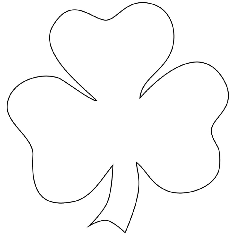 Shamrock Coloring Page Usable | Educative Printable in ...
