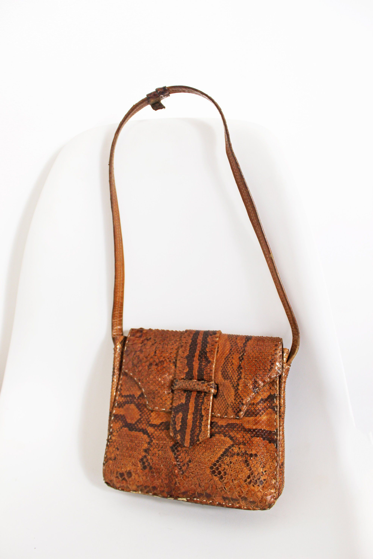 57522962e38e Vintage Python Skin Bag