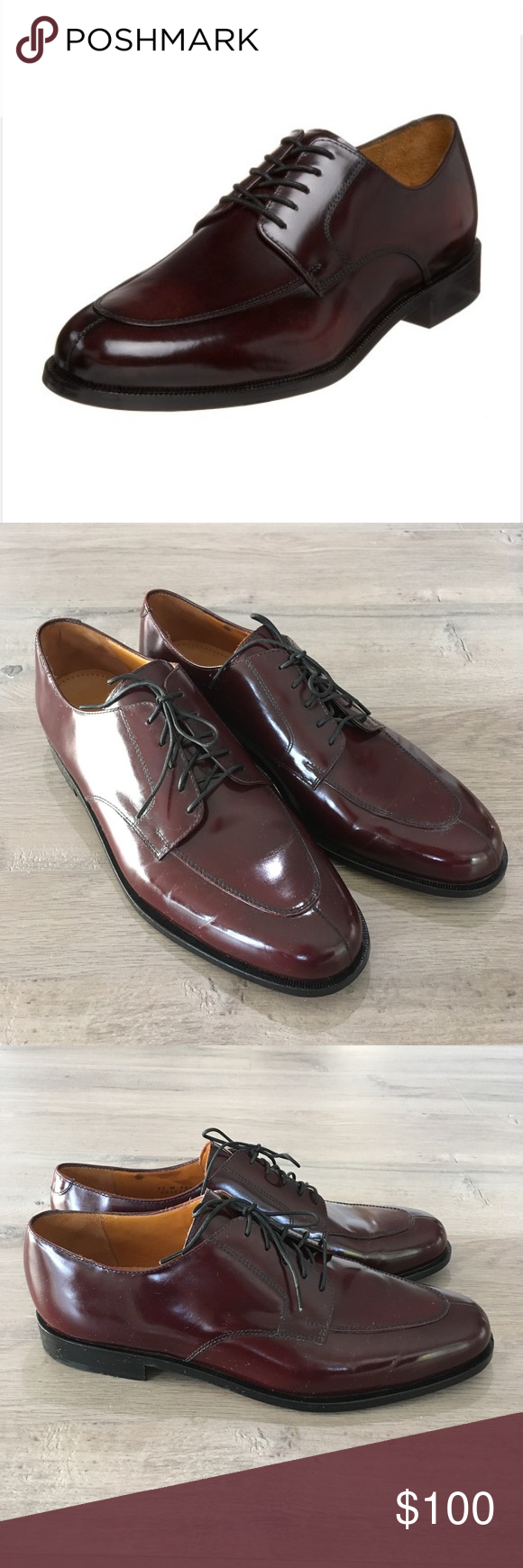 COLE HAAN ~ carter grand burgundy split toe oxford