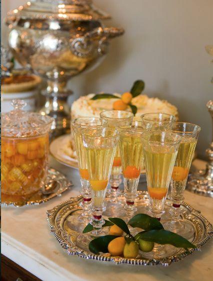 Kumquat Champagne Cocktails.