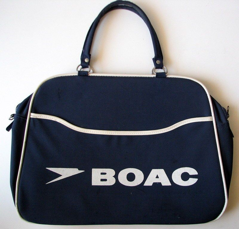 c48a29a139 Vintage 1960s BOAC British Airways FLIGHT BAG Carry-On