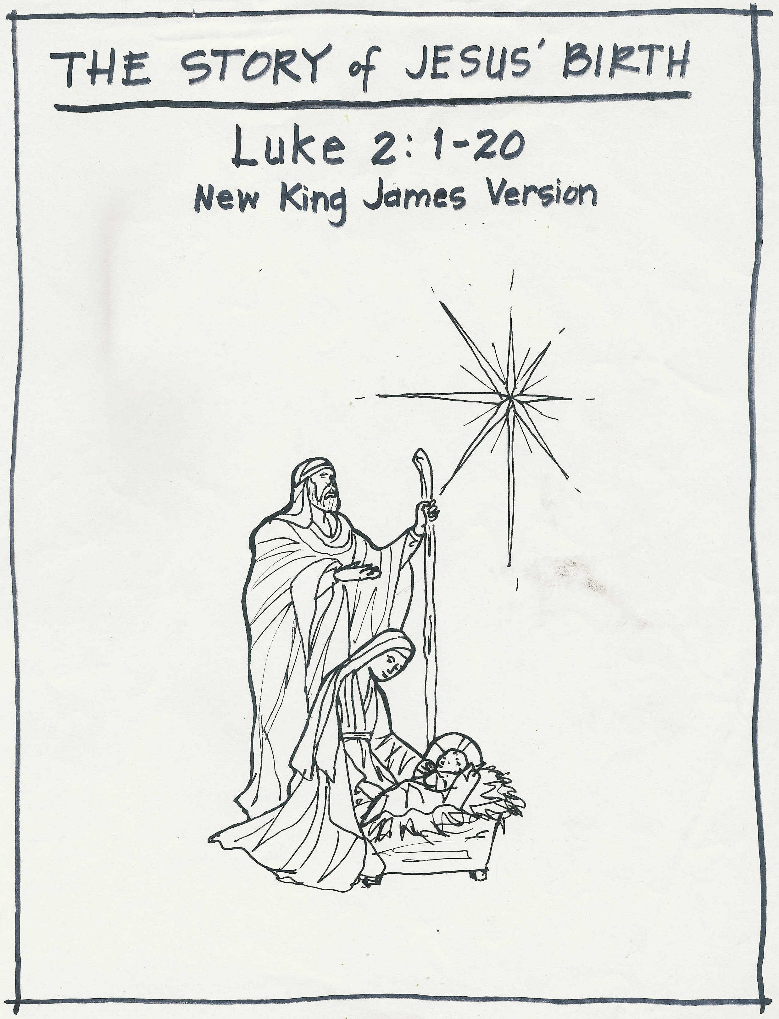 Download And Print Your Own Coloring Book For The Story Of Jesus Birth These Beautiful Black Line Drawings Were Created By My Friend Allison Sowell