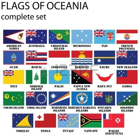 flags of oceania all countries in original colors alizés bi