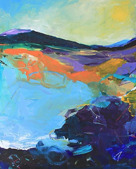Abstract Artists International Contemporary Abstract Expressionist Landscape Painting Cliffs Of My Childhood Abstract Abstract Artists Expressionist Landscape