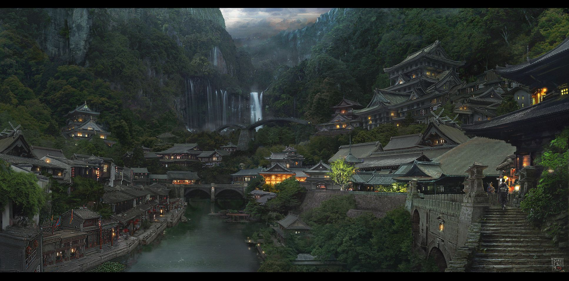 all free hd desktop wallpapers and backgrounds with japanese village evening mountain village waterfall
