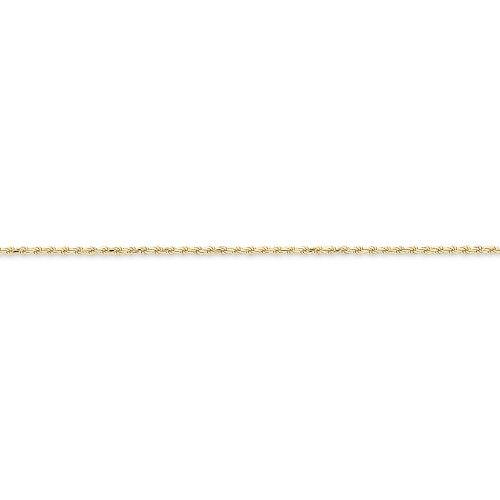 acba50af255 Roy Rose Jewelry 10K Yellow Gold 2mm Machine Made Diamond Cut Rope Chain  Bracelet ~ Length 8   inches