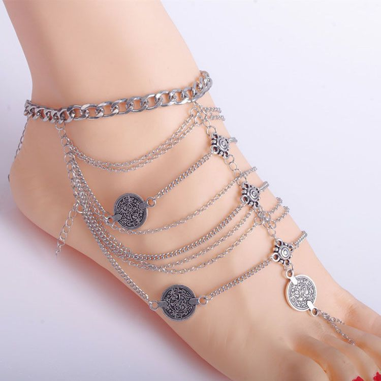at quotations jewelry china beads rose matte to and item anklet shopping authentic get guide silver cross feet guides chain guo pic