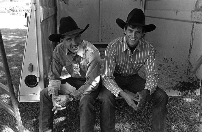 John Growney and Lane Frost San Jose, CA © Sue Rosoff All Rights Reserved : Rodeo : Sue Rosoff Photography