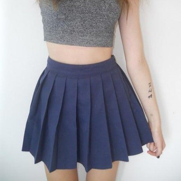 f7ad5233fe Skirt: mini skirt, blue, pleated skirt, kawaii, blue skirt, grey ...