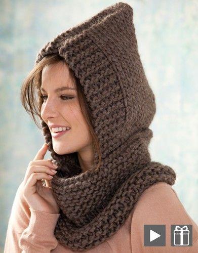 Gratisanleitung Scoodie aus Katia Love Wool | Вязание | Pinterest ...
