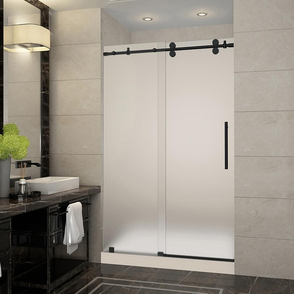 Aston Langham 48 In X 36 In X 77 5 In Frameless Sliding Shower