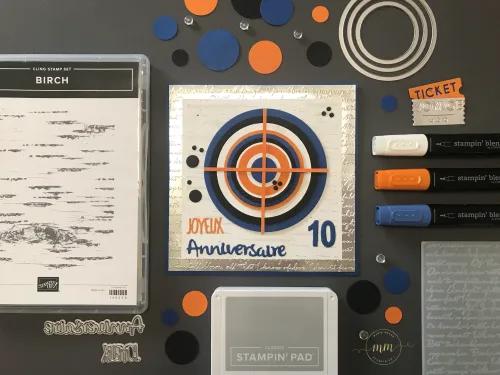 Carte d'anniversaire Nerf 10 ans