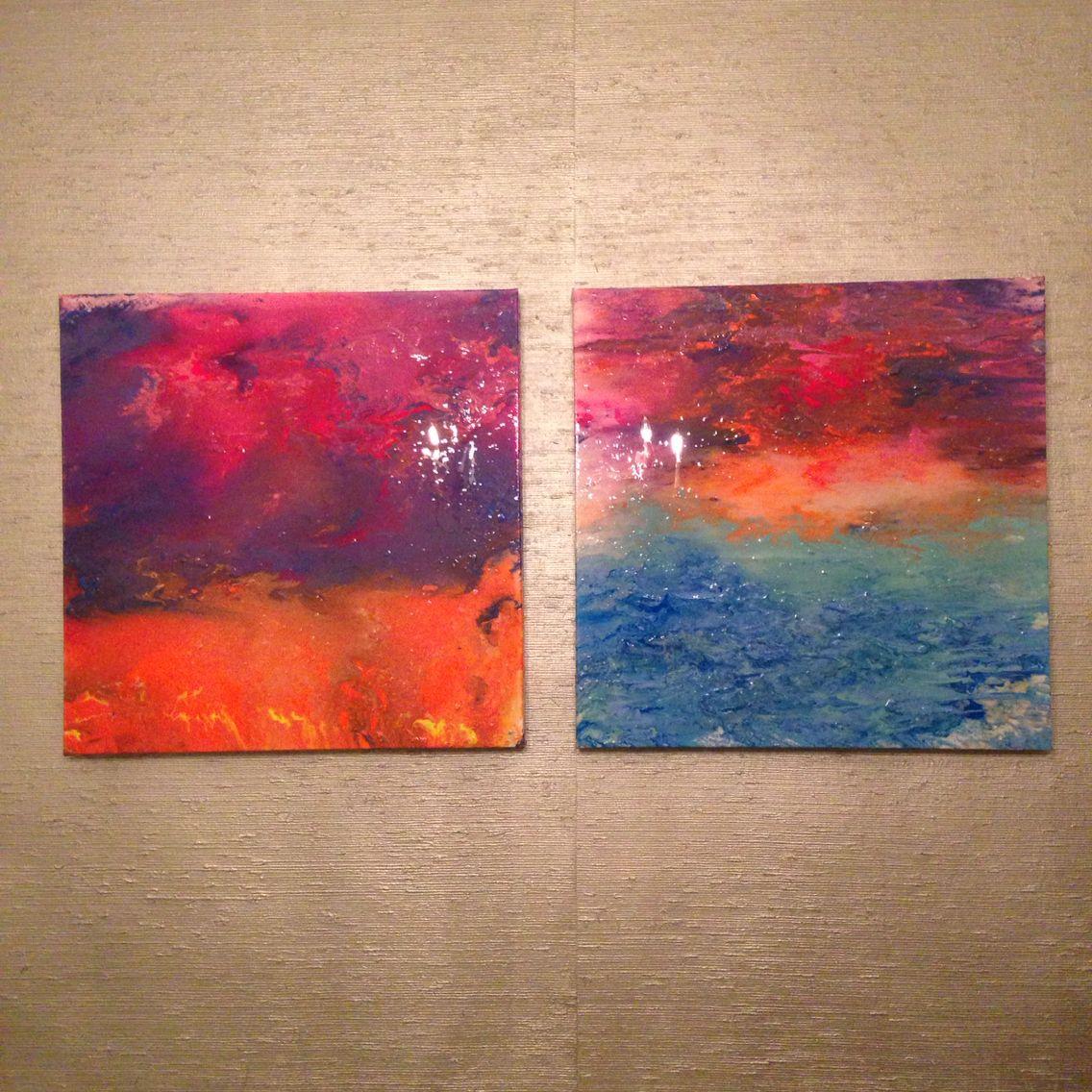 "24 x 24 ""Neon Sunsets"". Chandler Hines Art"