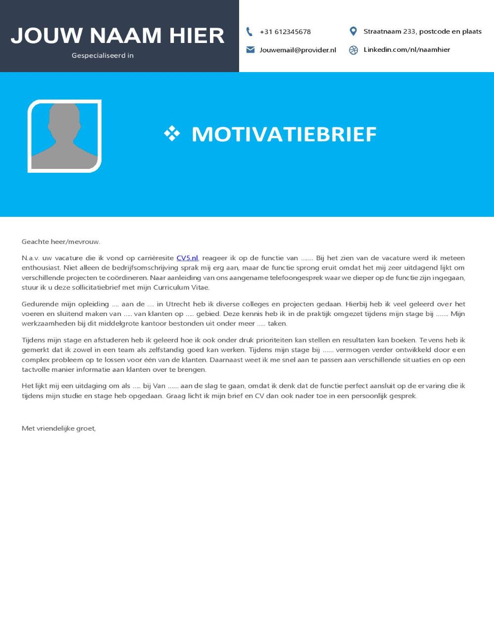 Euro CV Template • Curriculum Vitae 2020 • Cv sjabloon
