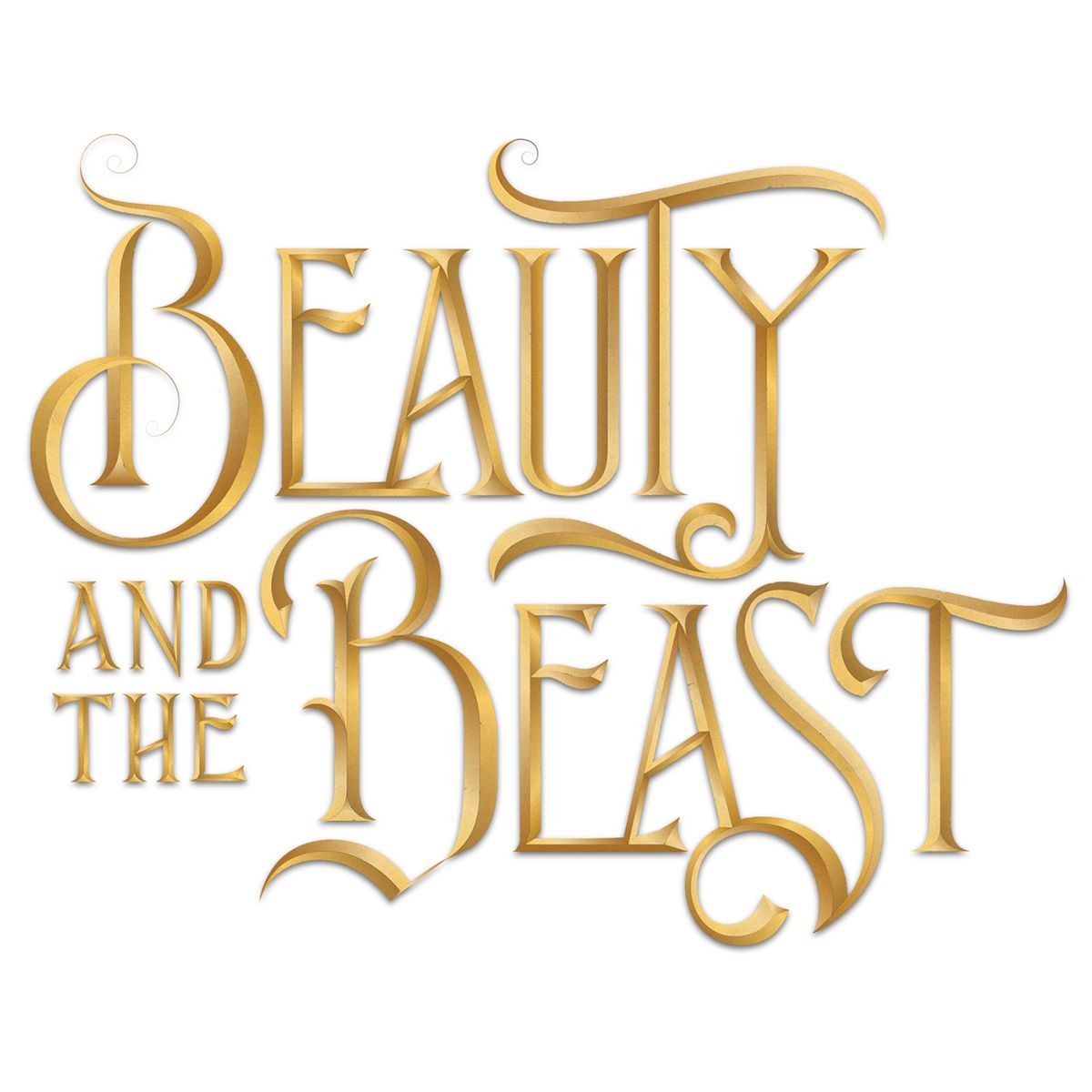 Lettering From Beauty And The Beast Name