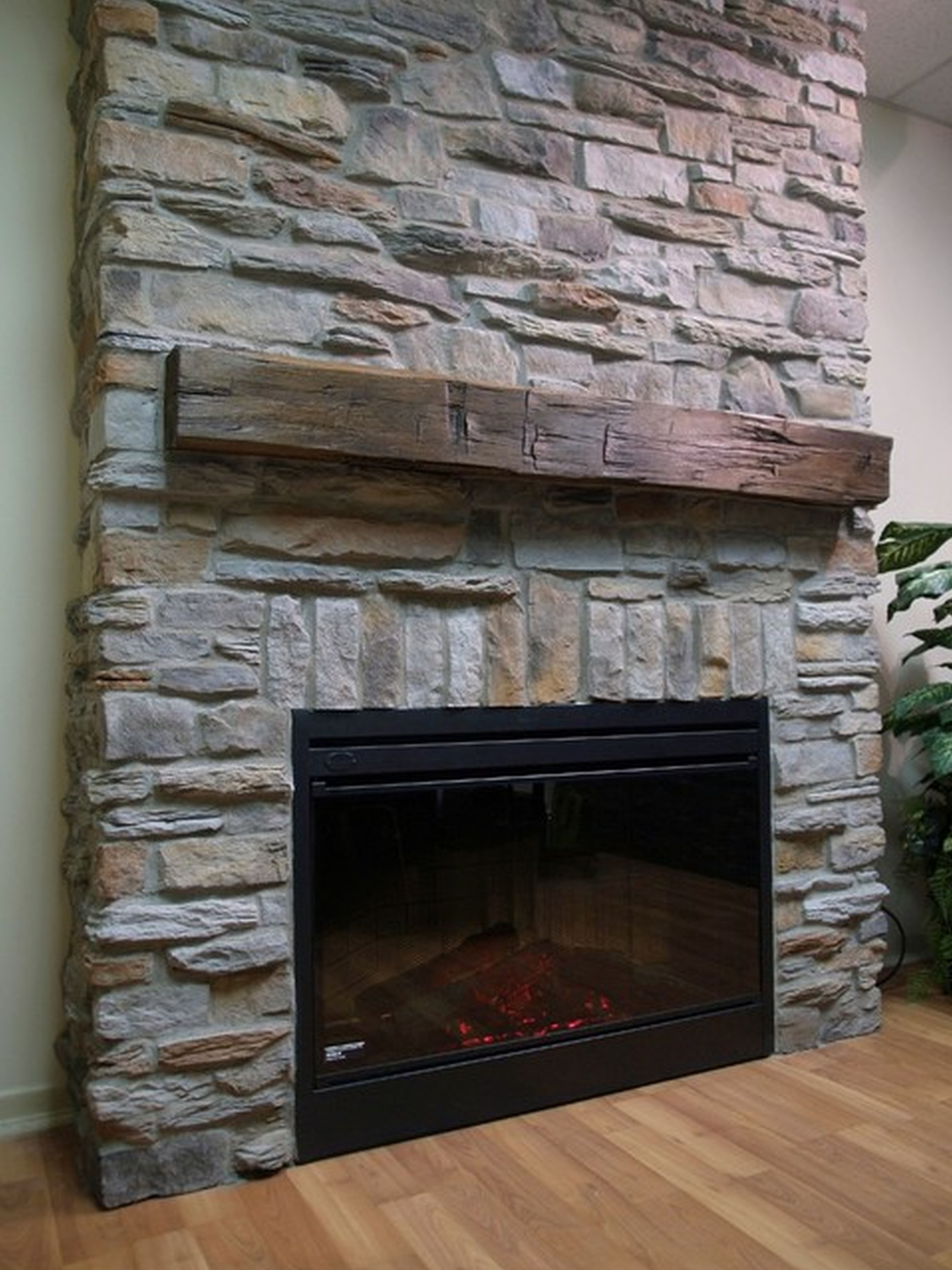 How to make a corner built in for fireplace insert Corner rock fireplace designs