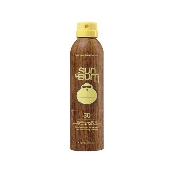 Sun Bum SPF 30 Original Spray Sunscreen 6 oz ($25) ❤ liked on Polyvore featuring beauty products, bath & body products and sun care