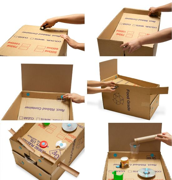 How to make your own pinball machine from a cardboard box for How to make a cardboard box car that moves