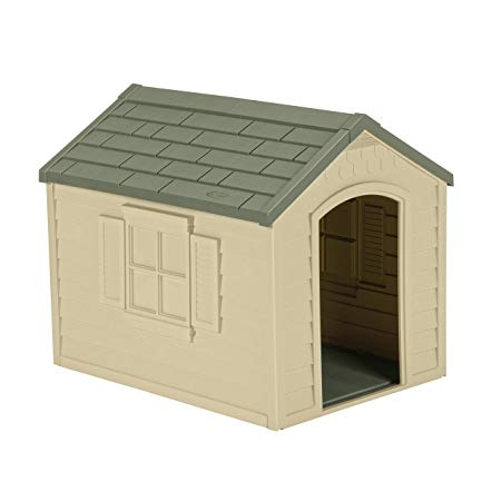 Suncast Outdoor Dog House With Door Water Resistant And Attractive For Small To Large Sized Dogs Easy To Outdoor Dog House Cool Dog Houses Large Dog House