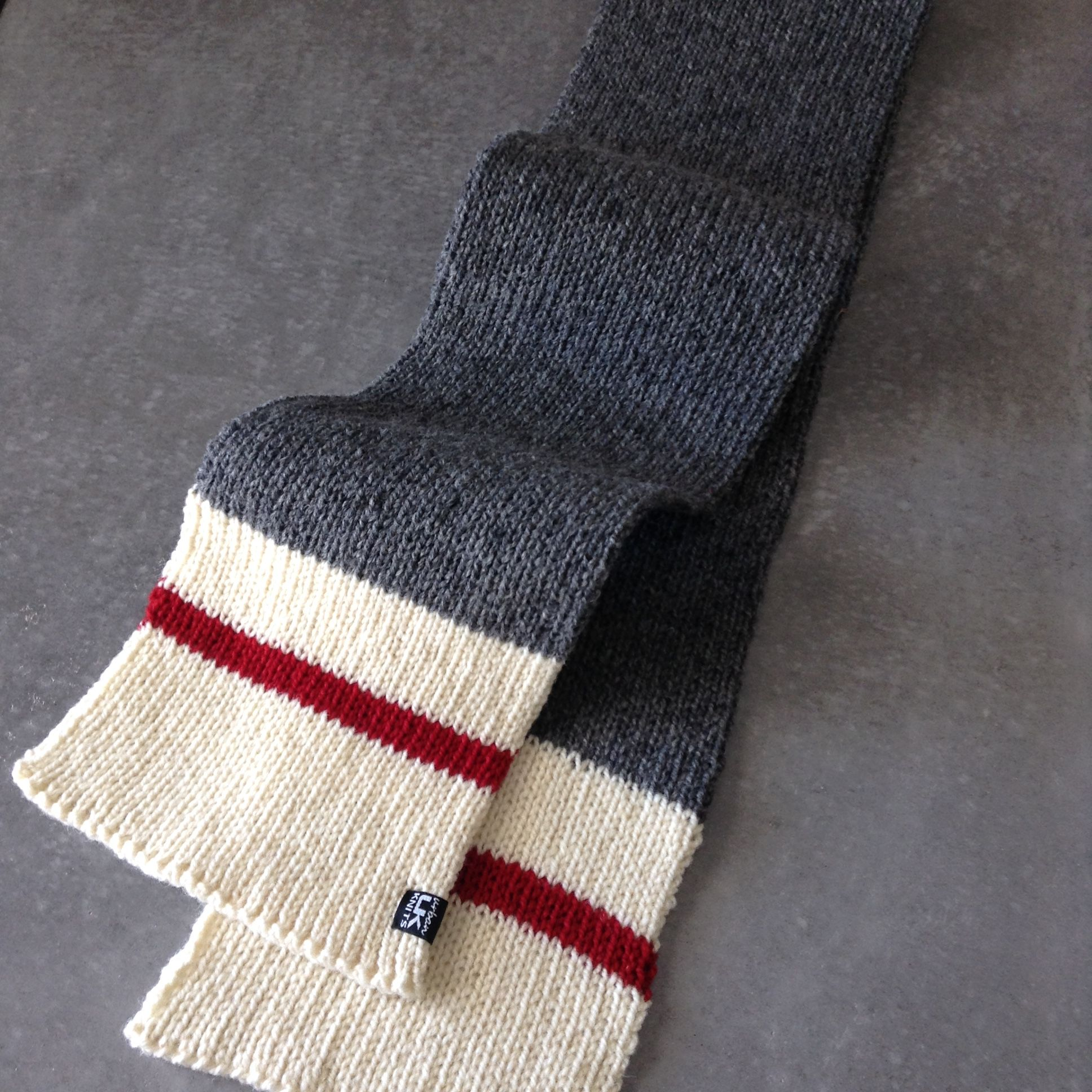 Wool scarf knit in Briggs and Little Heritage by Urban Knits. Sock ...