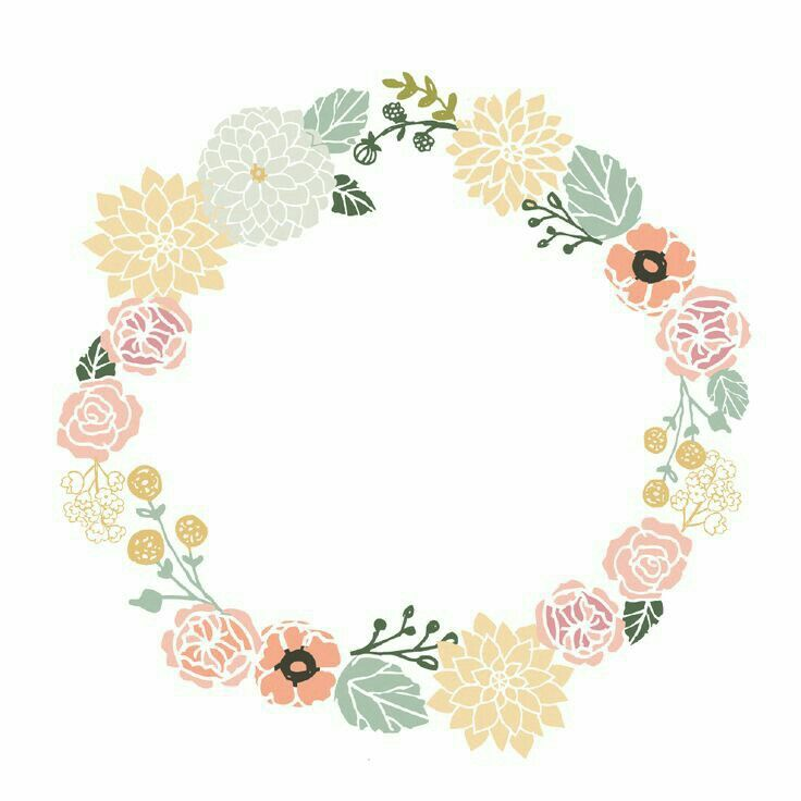Imagen Floral Border Flower Frame Wreath Watercolor