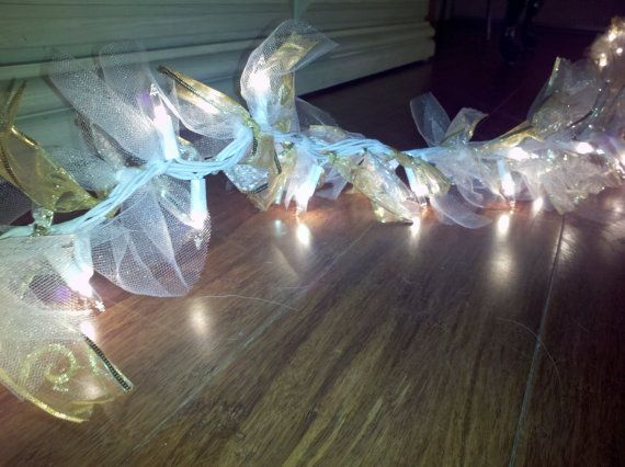 Tulle Laced String Lights by 4everNewAntiques on Etsy, $31.00