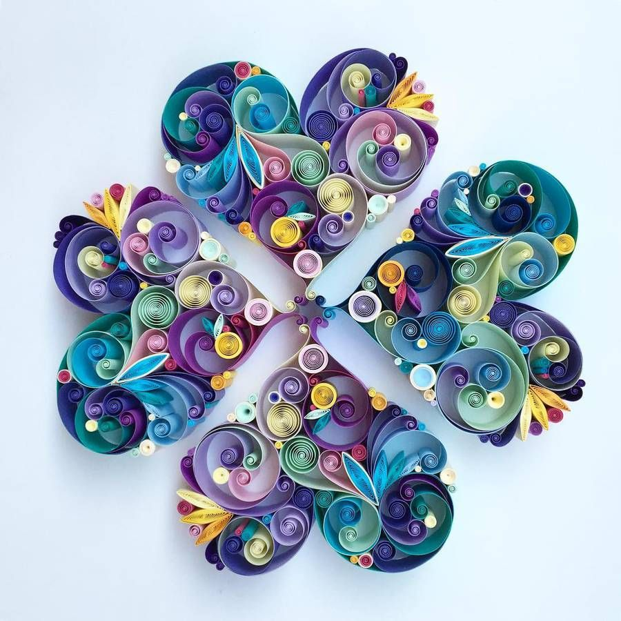 Colorful Paper Art By Sena Runa A R T Quilled Paper