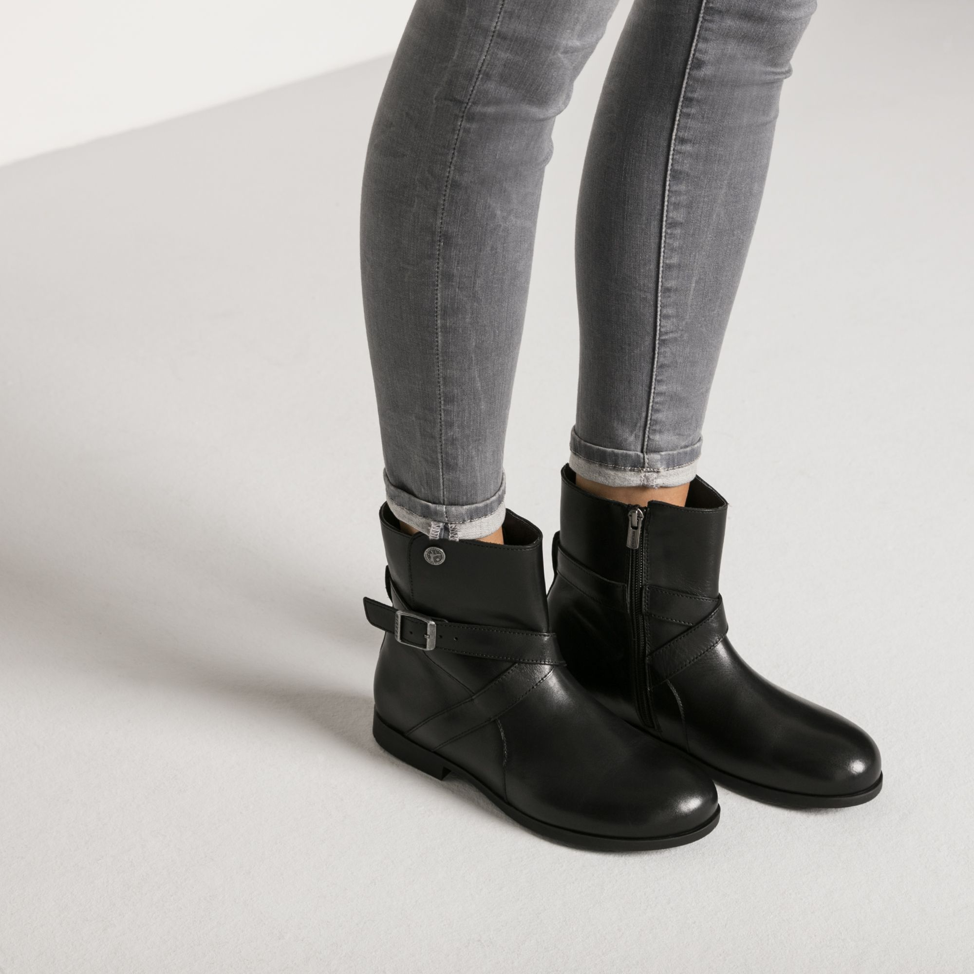 Collins Natural Leather Black | Black leather boots, Boots