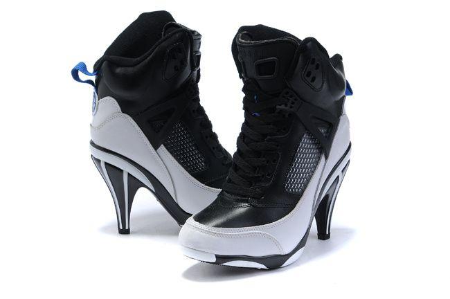 Authentic Nike Air Jordan High Heels Black White On Sale