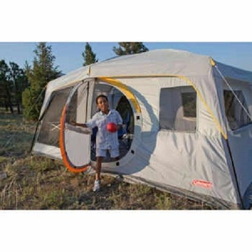 Coleman Weathermaster II Screened 10 Person 16 X 10 Tent with Hinged Door and Autoroll Windows  sc 1 st  Pinterest : tents with hinged doors - memphite.com