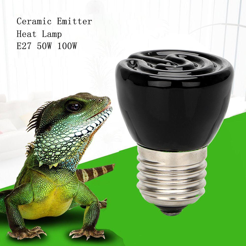 Best Price Black E27 50w 100w Mini Infrared Ceramic Emitter Heat Light Lamp Bulb For Reptile Pet Brooder 110v 220v Affiliate Lamp Bulb Heat Lamps Lamp Light