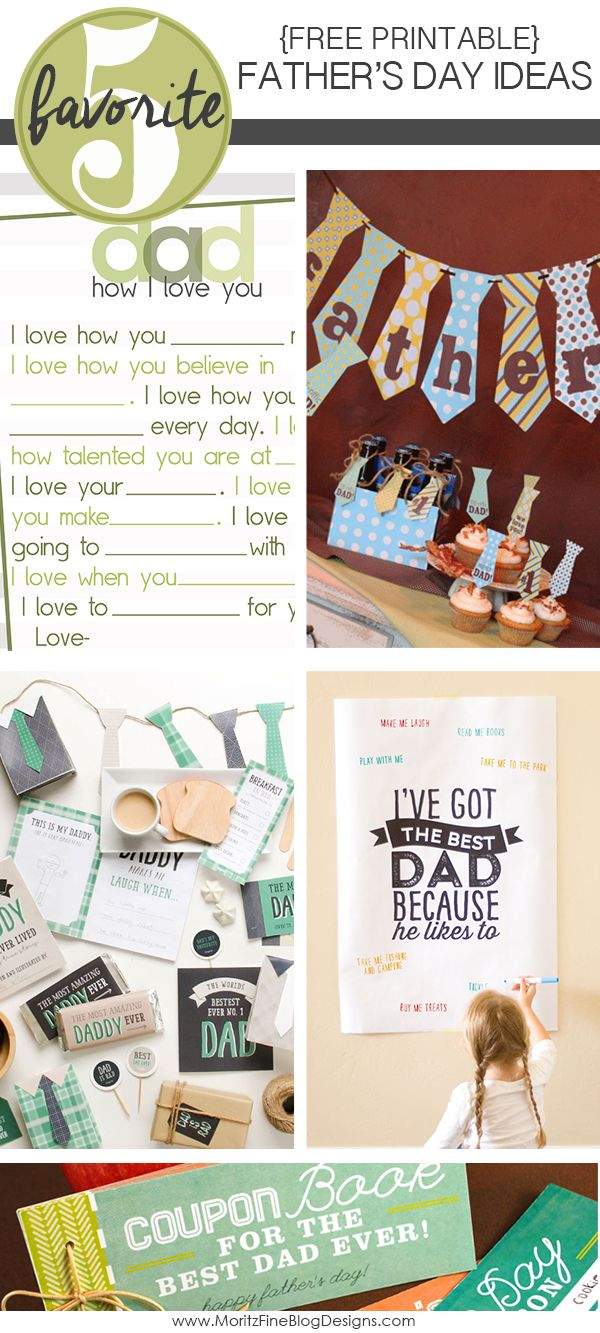 printable father s day ideas simple gifts free printable and dads
