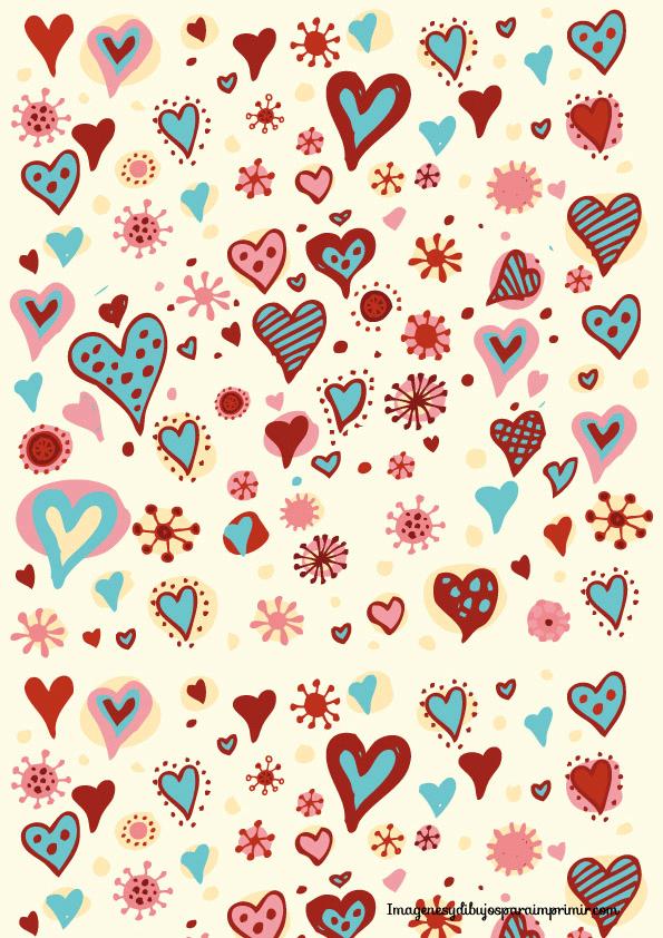 Papel de corazones para imprimir amor pinterest for Papel decorativo pared