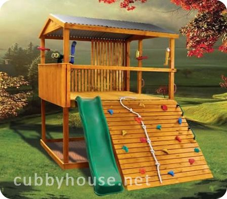 Adventure Pak Cubby House Australian Made Wooden Playground Equipment DIY  Kits. Kid Forts ...