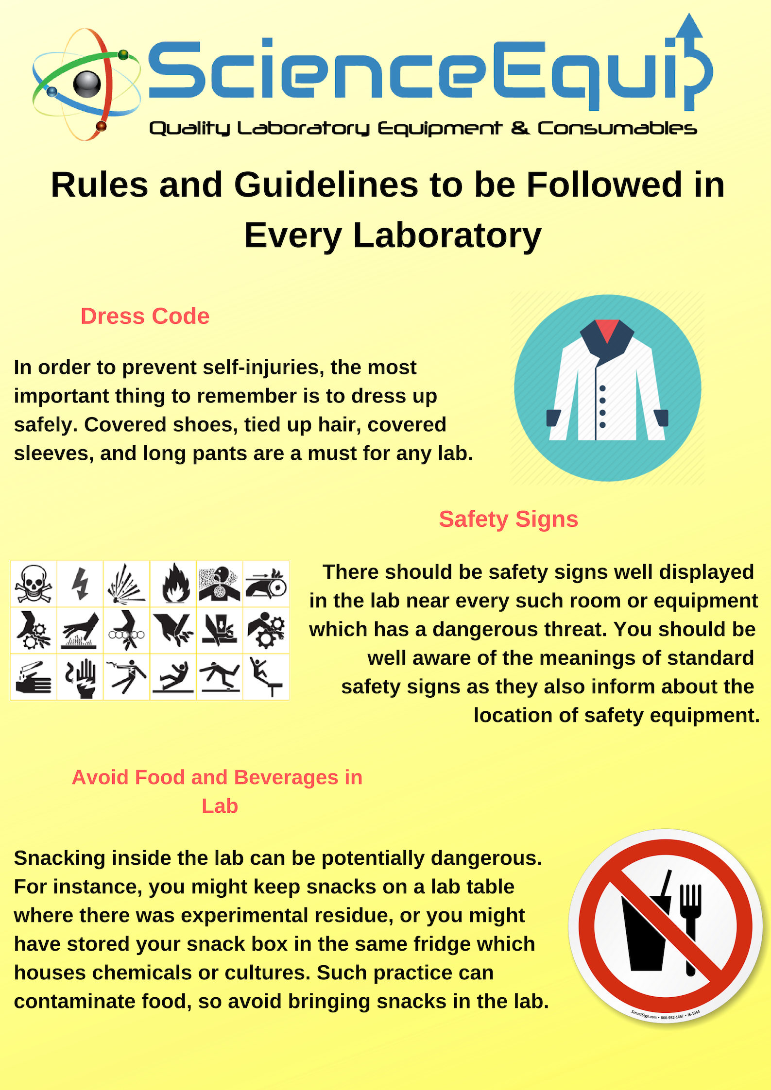 5 Must Rules And Guidelines To Be Followed In Every Laboratory Guidelines Rules Prevention