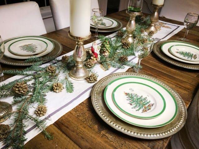 Mates 2 Renovate Christmas Table Diy Christmas Table Spode Dishes Sparkley Table Christmas Tree On Table Christmas Tableware Spode Christmas