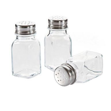 Set Of 6 Home & Kitchen Salt and Pepper Organize Set Glass Sauce Bottle