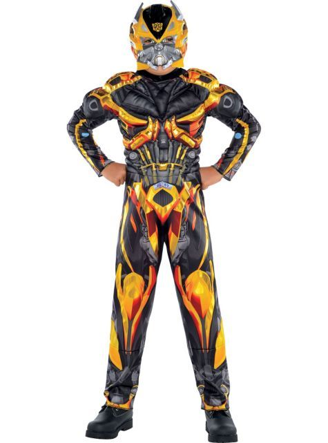 Boys Bumblebee Muscle Costume - Transformers 4 - Party City ...