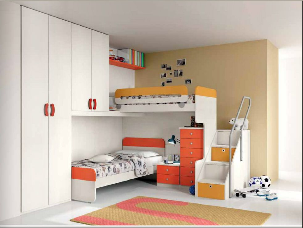 Furlan Camerette ~ Furlan arancione kids room kids rooms and room