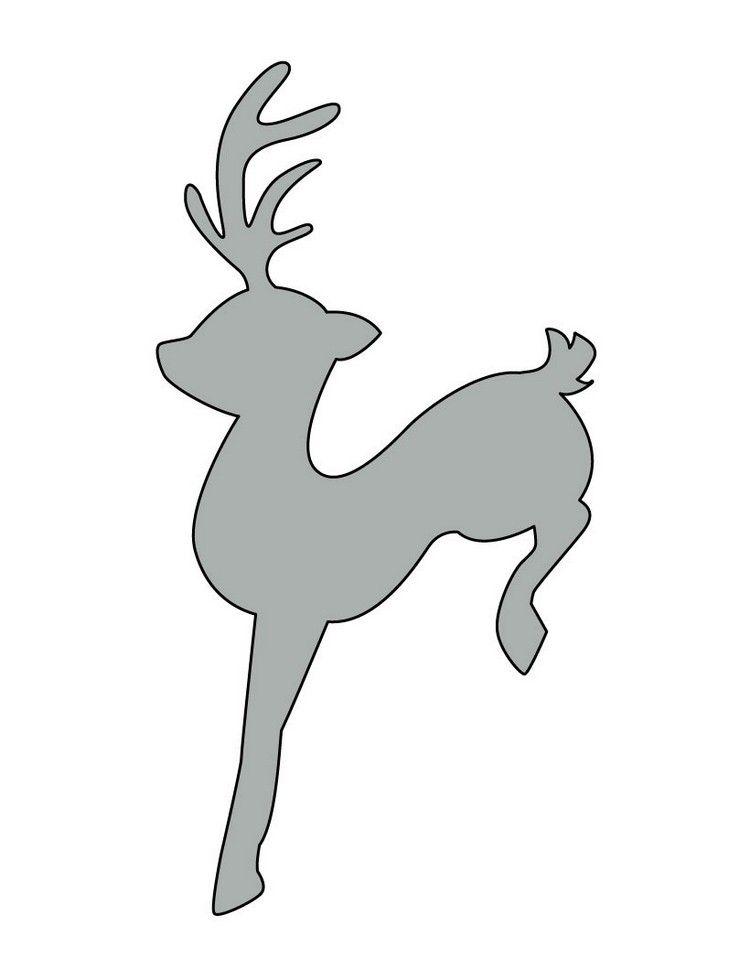 Schablone Elch Für Fensterbilder Paperiaskartelu Christmas