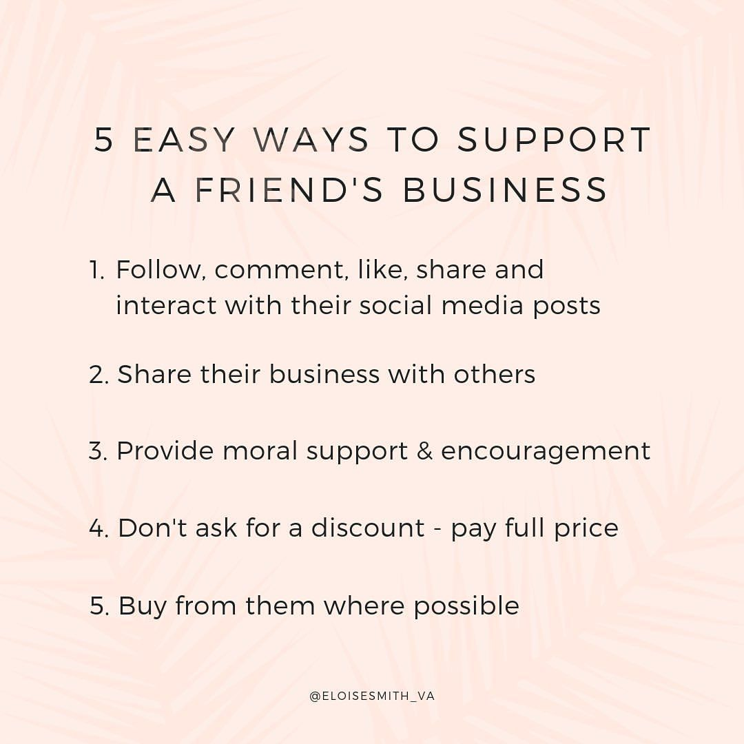 How to support your friends business supportsmallbusiness ...