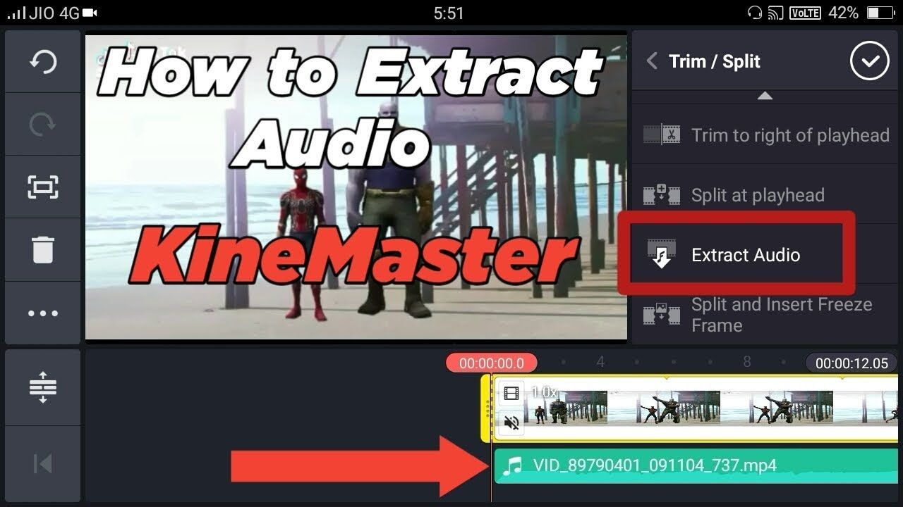 How To Extract Audio From Video In Kinemaster Tech Point Hindi