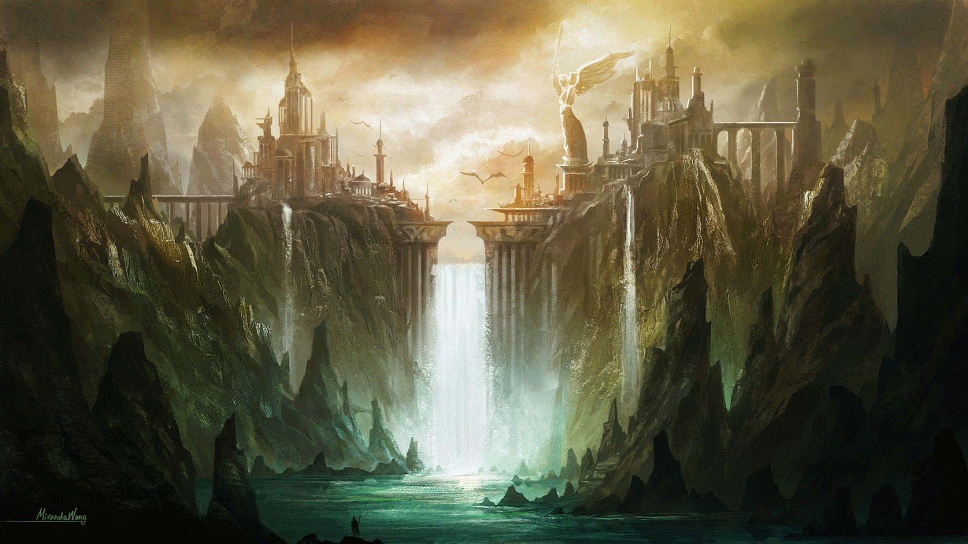 fantasy art landscapes hd background wallpaper 50 hd wallpapers