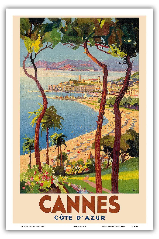 A3, A2 La Côte D/'Azur Provence France Vintage Art Déco Affiche de Voyage A1