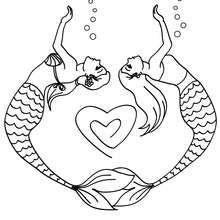 Meerjungfrauen Malen Ein Herz Zum Ausmalen Ausmalen Meerjungfrau Ausmalbilder