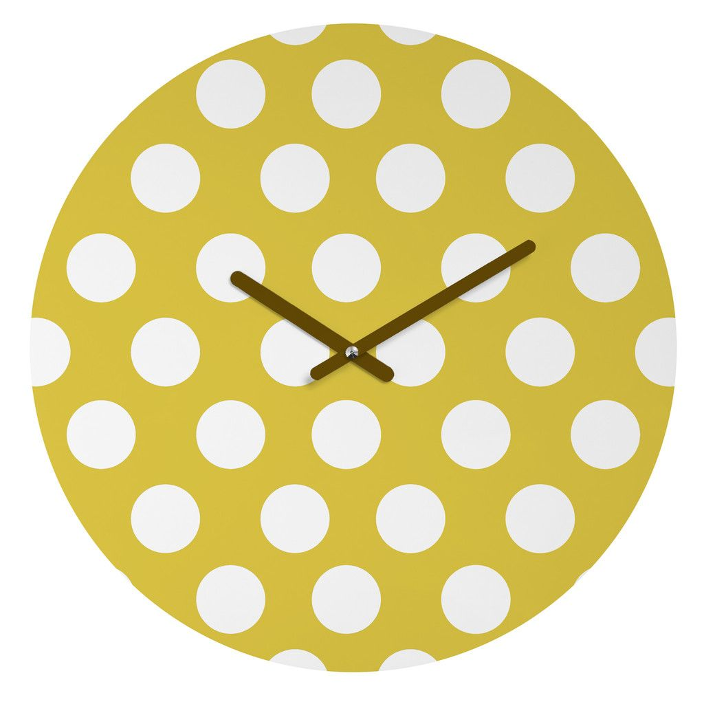 Allyson Johnson Brightest Chartreuse Round Clock | DENY Designs Home Accessories